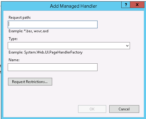 Using IIS 7 integrated mode, how to create handler mapping